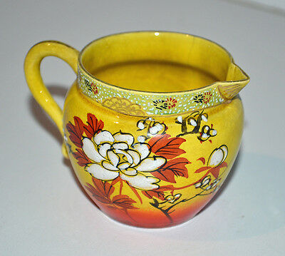 Vintage Yellow Cream Jug