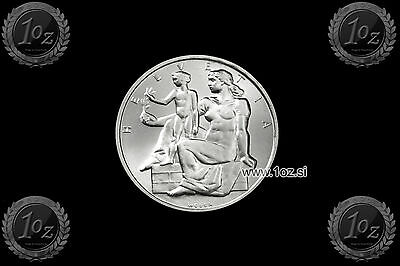 SWITZERLAND 5 FRANCS 1948 (100 y. CONSTITUTION) SILVER Comm. coin (KM# 48) UNC