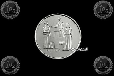 SWITZERLAND 5 FRANCS 1974 (CONSTITUTION REVISION) Comm. coin (KM# 52) UNC