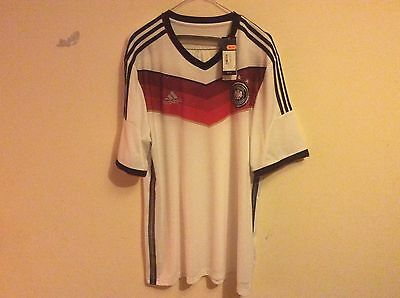 Germany 2014 BRAND NEW WITH TAGS XL adult adidas home shirt trikot maglia