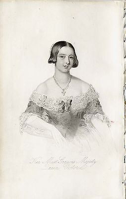c.1840 Original Print of portrait: Queen Victoria