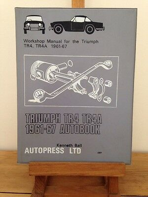 Triumph TR 4 TR4A Illustrated Handbook Workshop Manual 1961-67 Hayes Type Manual