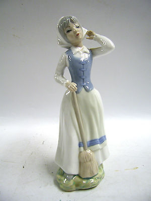 ROUMANO PORCELAIN FIGURINE WITH BROOM     (hh) Saint Francis Hospice