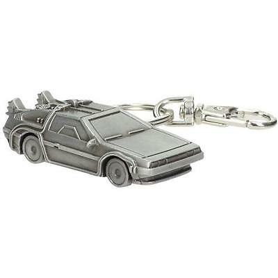 Back To The Future - DeLorean Metal Keychain / Keyring - New & Official In Pack