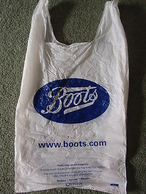 Vintage/ Collectable -  'Boots'  Medium Sized  Plastic Carrier Bag