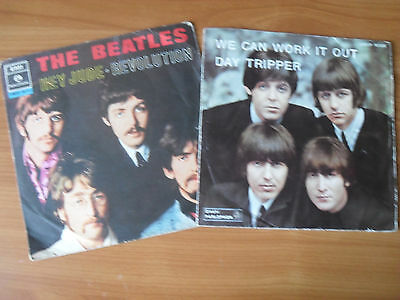 BEATLES  day tripper + hey Jude     2 - 45 giri