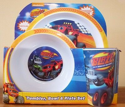 Blaze and the Monster Machines Tumbler, Bowl & Plate Melamine Mealtime Set