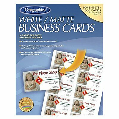 Geographics Royal Brites Business Cards (GEO46102)