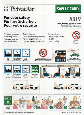 SAFETY CARD: Privat Air A319 PTI A319/Rev.No.1/ September 2014