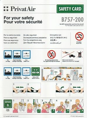 SAFETY CARD: Privat Air B757-200 PTI B757-200 June 2012