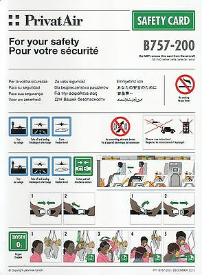SAFETY CARD: Privat Air B757-200 PTI B757-200 December 2013