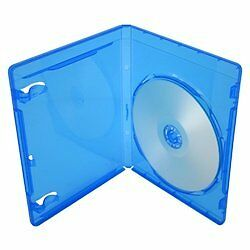 25 x Empty Standard Blue Replacement Boxes/Cases for Blu-Ray DVD Movies (DVBR...