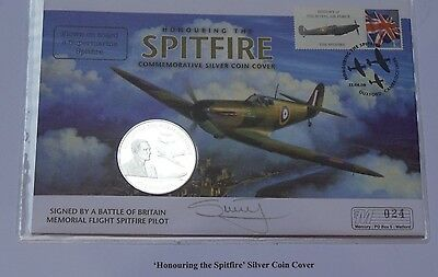 2008 First Day Cover Jersey Silver Proof £5 Coin Royal Air Force Signed