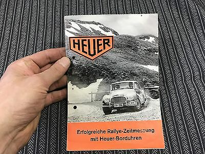 Heuer sales brochure stop watches monte carlo, super autavia, master time  1960'