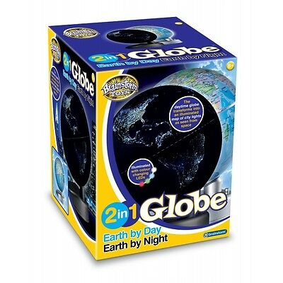 Brainstorm Toys 2 in 1 Globe Earth by Day Earth by Night Brand New