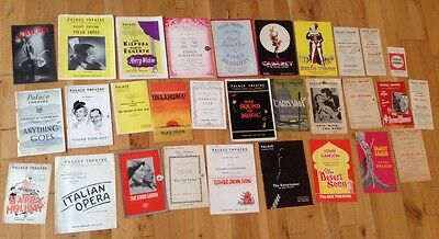 30 PALACE THEATRE programmes assorted years