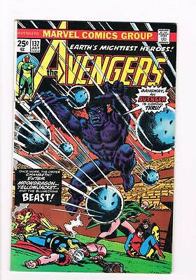 Avengers # 137  The order Changeth ! grade 9.0 scarce hot book !!