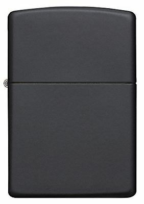 NEW Genuine Zippo Windproof Refillable Petrol Lighter w/out Logo - Black Matte