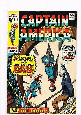 Captain America # 131  Bucky Reborn grade 8.0 hot book !!