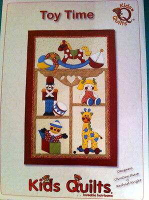 Toy Time Patchwork & Applique Wall Quilt Pattern By Kids Quilts New Zealand