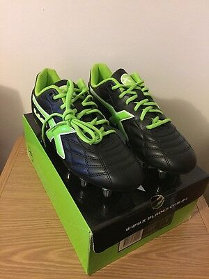 Blades Rugby Boots Size 9 Black Green BNWT