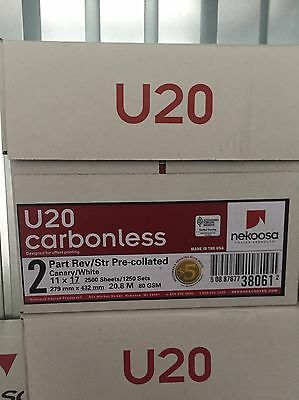 Nekoosa U20 Carbonless Paper 2-Part 8-1/2x11 (2500 Sets/5000 Sheets)