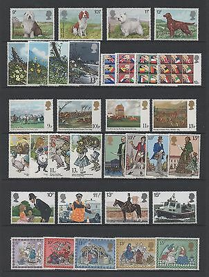 Gb 1979 Collection Of 8 Full Commemorative Sets *mint Never Hinged*