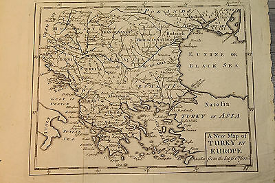 Antique Map - A New map of turkey in europe - from the latest observa