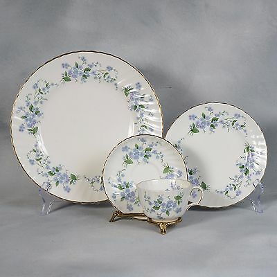 "Set Of 4 Four Piece Place Settings Of Adderley ""forget Me Not"""