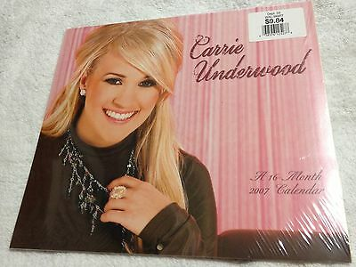 Carrie Underwood 2007 Calendar 16 - Month Brand New Factory Sealed