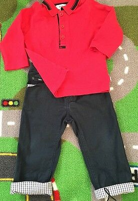 Baby Boys Hugo Boss 2 Piece Outfit 18months