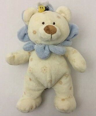 2004 Ty Pluffies Baby Bloom Lion Plush Love To Baby Lovey Blue Bee 11""