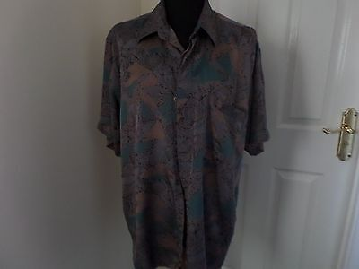 Vintage Pierre Cardin Pure Silk Shirt.41/42. 80's Short Sleeve. Casual Vgc..