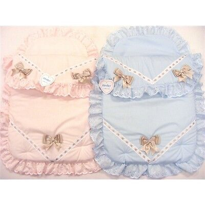 Baby Pram Set Quilt & Pillow Case Ribbons Spanish Romany Style by Kinder