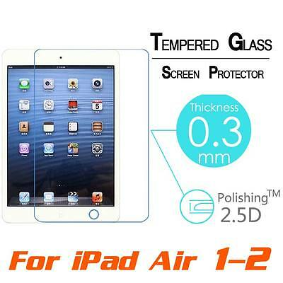 100% Premium Tempered Glass Film Protection Screen Guard For Apple iPad Air 1 2