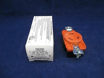 Arrow Hart Locking Receptacle IG6200 NEMA L5-20R new
