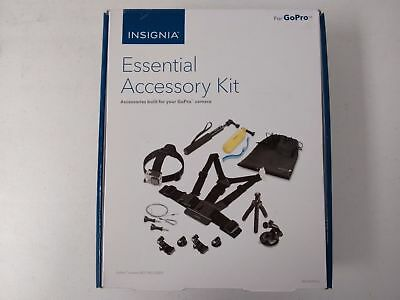 Insignia NS-DGPK10 Essential Accessory kit for GoPro Action Camera  NEW