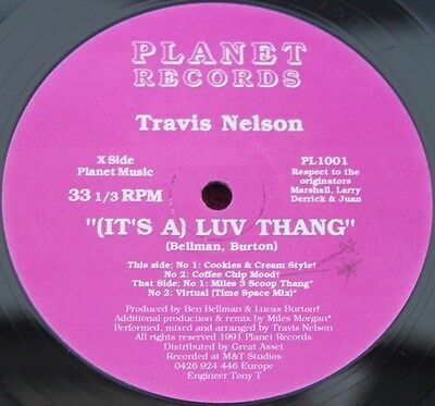 """TRAVIS NELSON * (IT'S A) LUV THANG * Classic Garage House 12"""" Vinyl"""