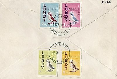 Lundy Is  1962 Europa FDC