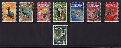 Malaysia - 1965 Bird Set to $10 - SG 20-27 - SEE NOTES