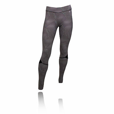 Pure Lime Abstract Curve Mujer Blanco Negro Mallas Pantalones de correr deporte