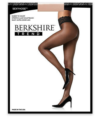 Berkshire Sheer To Lace Waist Pantyhose Hosiery - Women's