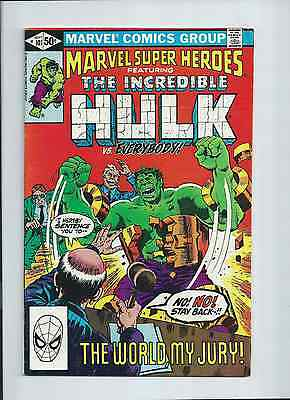 Marvel Super Heroes #101 Featuring Incredible Hulk 1981 VF- 7.5