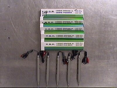 Lot 5 RSR LP611 Logic Probe & Pulsers without Beepers (M202618)
