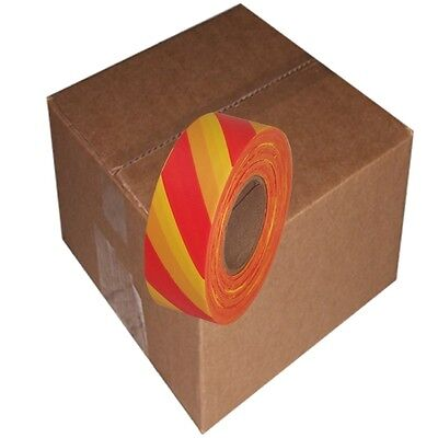 Red / Yellow Safety Stripe 12 Rolls Flagging Tape 1 3/16 in x 300 ft