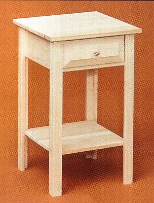 AMISH ~ Rustic Pine UNFINISHED SHAKER Primitive NIGHTSTAND End Table