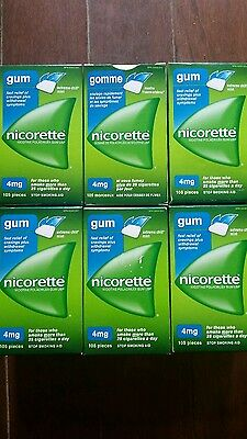 630 Pieces of 4MG NICORETTE Extreme Chill Mint  Nicotine gum