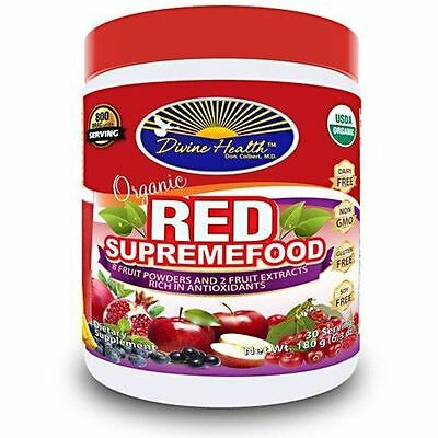 Divine Health Organic Red Supremefood Antioxidant-Rich Fruits, 30 Servings BERRY