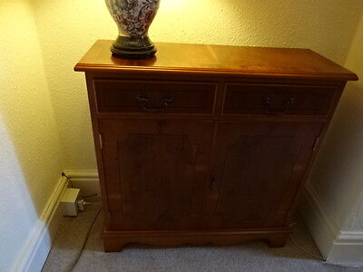 REPRODUCTION  Yew Wood Sideboard with Two Drawers & Cupboards HALE WA15