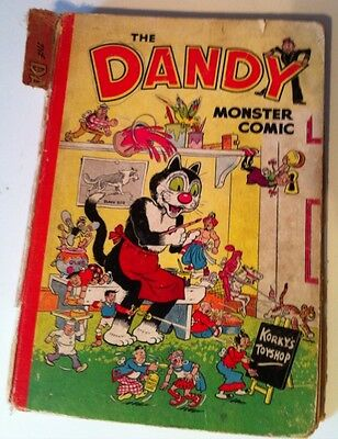 Vintage Dandy Monster Comic Book Annual, 1952?
